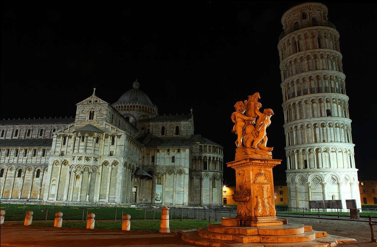 The Leaning Tower of Pisa is the campanile, or freestanding bell tower, of the cathedral of the Italian city of Pisa, known worldwide for its unintended tilt to one side