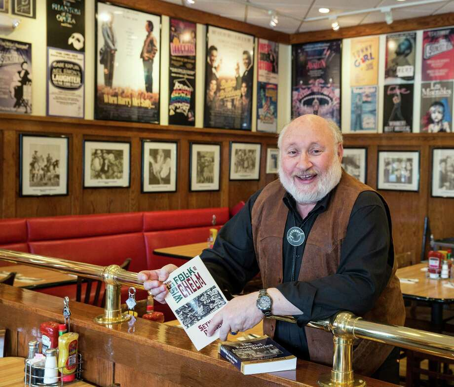 """Rabbi Seymour Rossel, author of dozens of books, recently wrote """"The Wise Folk of Chelm,"""" a book of stores drawn from Jewish humor and folklore. In Kenny & Ziggy's New York Delicatessen, 2327 Post Oak across from the Galleria. Friday, May 2, 2014 (Craig H. Hartley/For the Chronicle) Photo: Craig Hartley, Freelance / Copyright: Craig H. Hartley"""