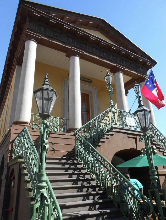 The building housing the Daughters of the Confederacy Museum, built in 1841, was the commercial center of Charleston and served as a recruiting station during the Civil War. It's  considered one of Charleston's best examples of Greek Revival-style architecture. Photo: Photos By Alice Short / Los Angeles Times / Los Angeles Times