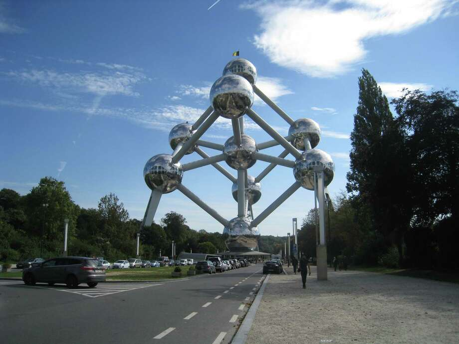 The Atomium in Brussels, Belgium, was built for the 1958 World Exhibition. Exiting the bizarre landmark was more difficult than expected. Photo by Cathleen F. Crowley/Times Union