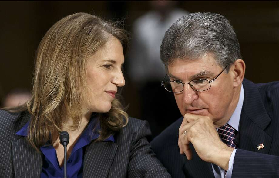 Sylvia Mathews Burwell is introduced by Sen. Joe Manchin, D-W.Va., at her Senate committee hearing. Photo: J. Scott Applewhite, Associated Press