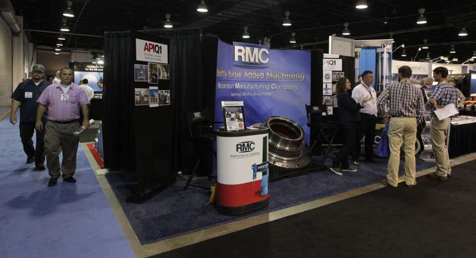 The Richardson Manufacturing Company booth is the last booth in the corner of the NRG Arena during t
