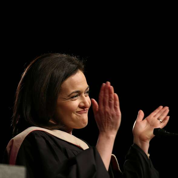 Facebook Chief Operating Officer Sheryl Sandberg gives the keynote speech during the City Colleges of Chicago graduation ceremony at the UIC Pavilion Saturday, May 3, 2014, in Chicago.    (John J. Kim/Chicago Tribune)  B583708021Z.1 ....OUTSIDE TRIBUNE CO.- NO MAGS,  NO SALES, NO INTERNET, NO TV, CHICAGO OUT, NO DIGITAL MANIPULATION...
