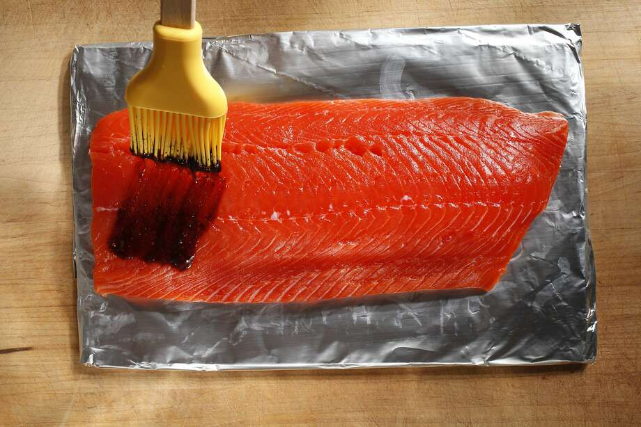 Grill-Roasted Salmon With Soy-Red Wine Glaze Photo: Craig Lee, Special To The Chronicle