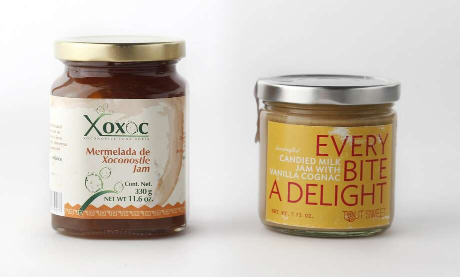 Left-right: Xoxoc prickly pear marmalade, Tout Sweet's candied milk jam as seen in San Francisco, California on Wednesday April 30, 2014.   MANDATORY CREDIT FOR PHOTOG AND SF CHRONICLE/NO SALES-MAGS OUT-INTERNET OUT-TV OUT Photo: Craig Lee, Special To The Chronicle