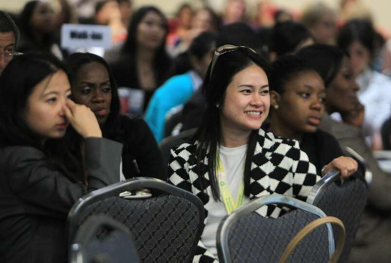 Audience members listen attentively in Women in the Industry Sharing Experiences Panel during the Of