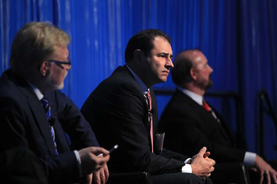 Greg Kusinski waits to deliver remarks in the Funding New E&P Technologies Panel during Offshore Technical Conference at NRG on May 7, 2014, in Houston, Tx. ( Mayra Beltran / Houston Chronicle ) Photo: Mayra Beltran, Houston Chronicle