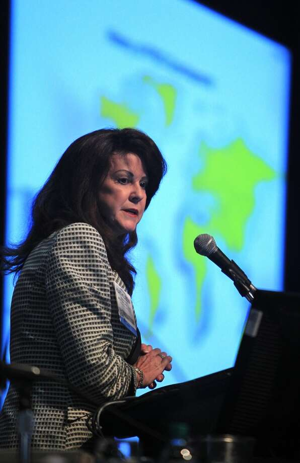 Kathleen Eisbrenner delivers remarks in the Floating Liquid Natural Gas Project Panel during Offshore Technical Conference at NRG on May 7, 2014, in Houston, Tx. ( Mayra Beltran / Houston Chronicle ) Photo: Mayra Beltran, Houston Chronicle