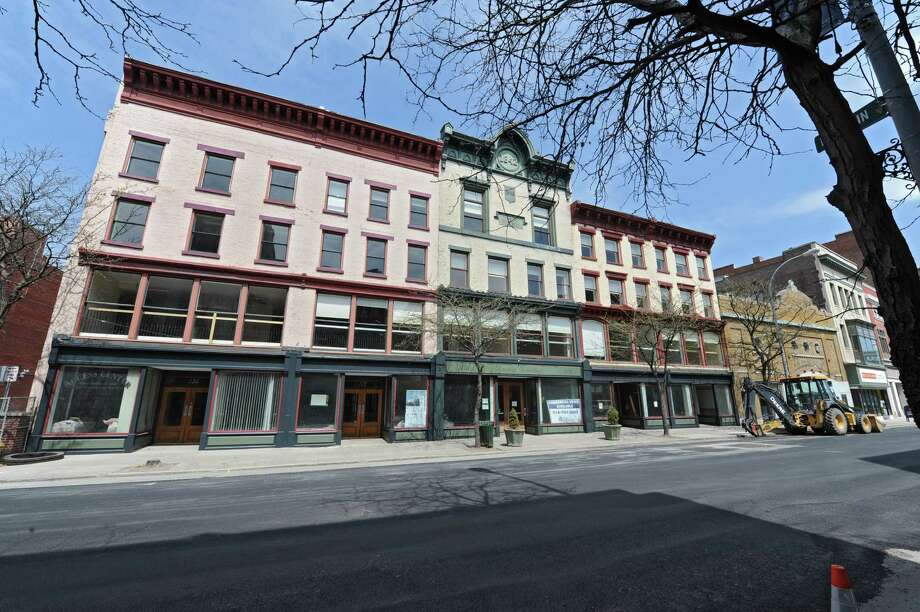 Exterior of the Dauchy Building on River St.  which is being renovated into apartment space on Thursday, May 8, 2014 in Troy, N.Y.  (Lori Van Buren / Times Union) Photo: Lori Van Buren / 00026831A