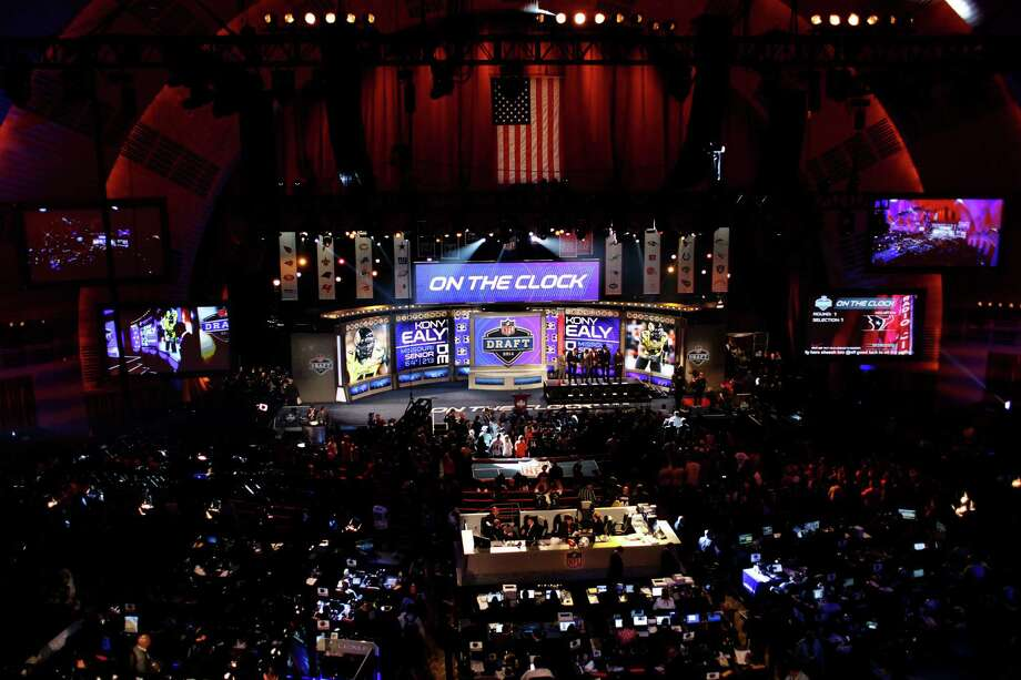 NEW YORK, NY - MAY 08:  A general view during introductions proir to the start of the first round of the 2014 NFL Draft at Radio City Music Hall on May 8, 2014 in New York City. Photo: Cliff Hawkins, Getty Images / 2014 Getty Images