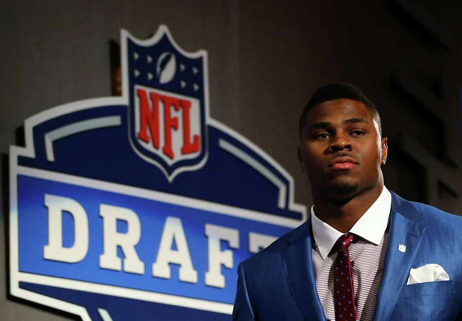 NEW YORK, NY - MAY 08:  Khalil Mack of the Buffalo Bulls is introduced during the first round of the 2014 NFL Draft at Radio City Music Hall on May 8, 2014 in New York City. Photo: Elsa, Getty Images / 2014 Getty Images