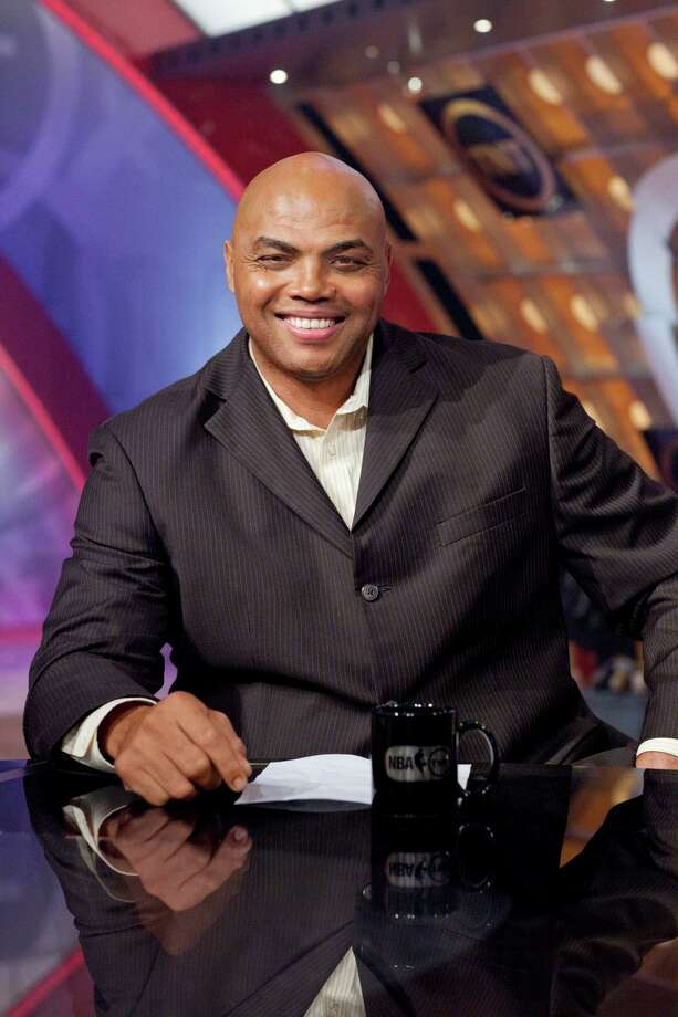 "Former Rocket Charles Barkley is all smiles in this photo. But many San Antonio women aren't laughing after his recent ""fat"" joke. (Turner Sports photo) Photo: Turner Sports / © 2011 Turner Sports. A Time Warner Company. All Rights Reserved."