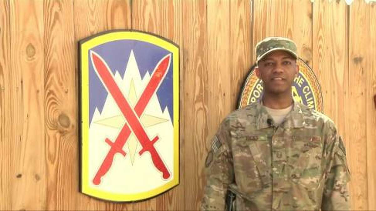 Master Sgt. Anthony Ricks sends a greeting to Brooklyn, New York from Bagram Air Field for Mother's Day 2014. View video message.