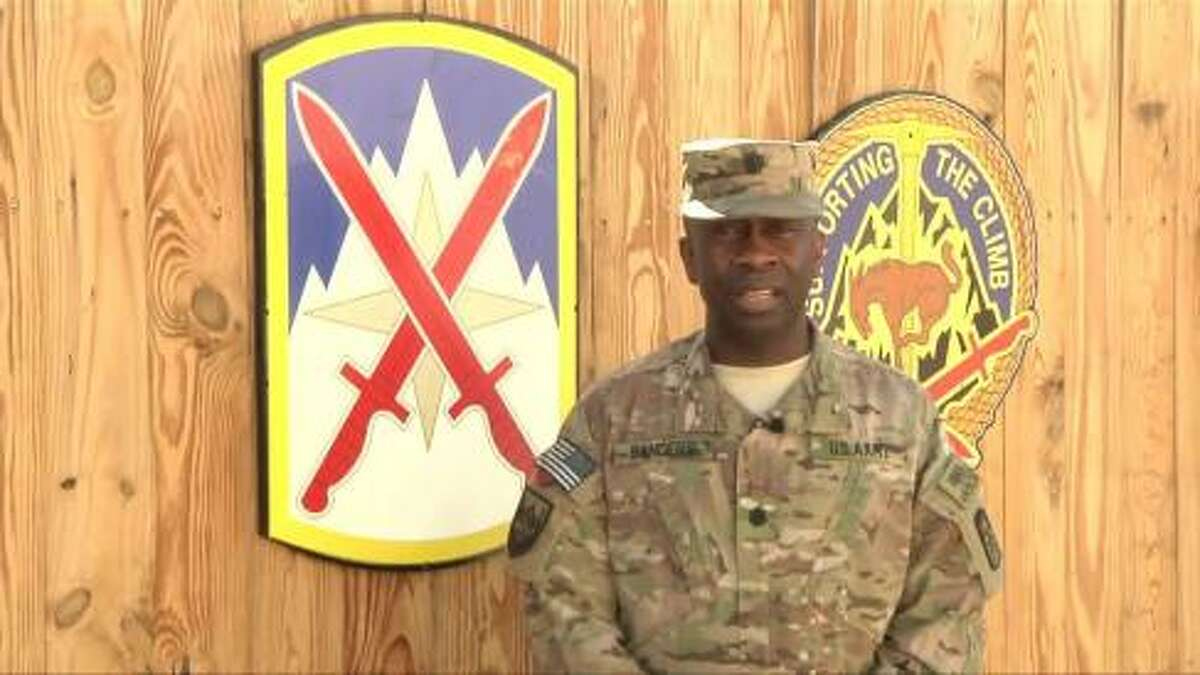 Lt. Col. Gregory Sanders sends a greeting to Buffalo, New York from Bagram Air Field for Mother's Day 2014. View video message.