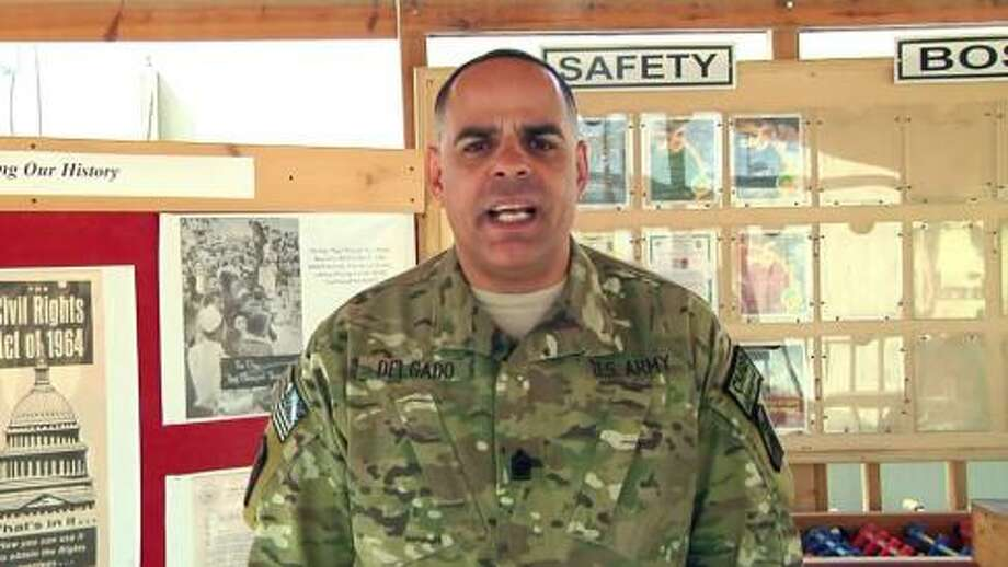 82nd Sustainment Brigade Command Sgt. Maj. Alberto Delgado wishes his mother in New York City, Happy Mothers Day. View video message. Photo: Defense Video And Imagery Distribution System