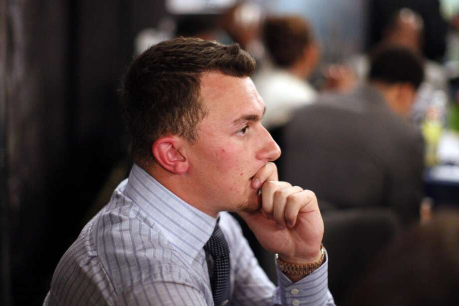 Johnny Manziel, from Texas A&M, waits backstage during the first round of the NFL football draft, Thursday, May 8, 2014, at Radio City Music Hall in New York. Photo: Jason DeCrow, Associated Press