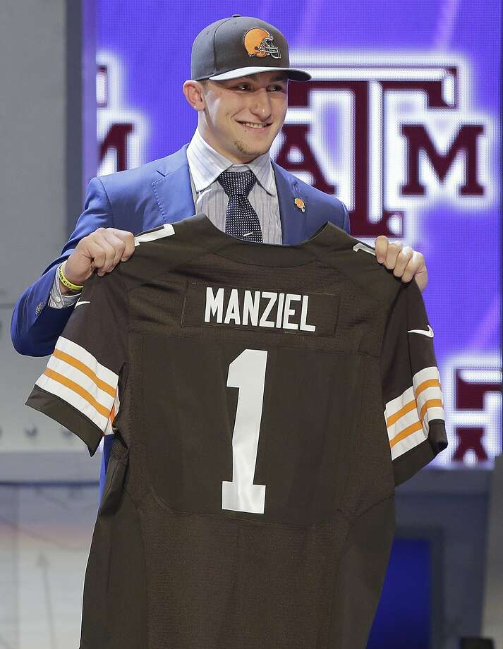 Johnny Manziel said he didn't slide in the draft after being taken 22nd. Photo: Frank Franklin II, Associated Press