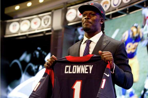 A star defensive end at South Carolina, Jadeveon Clowney will switch to linebacker in the Texans' base 3-4 scheme.