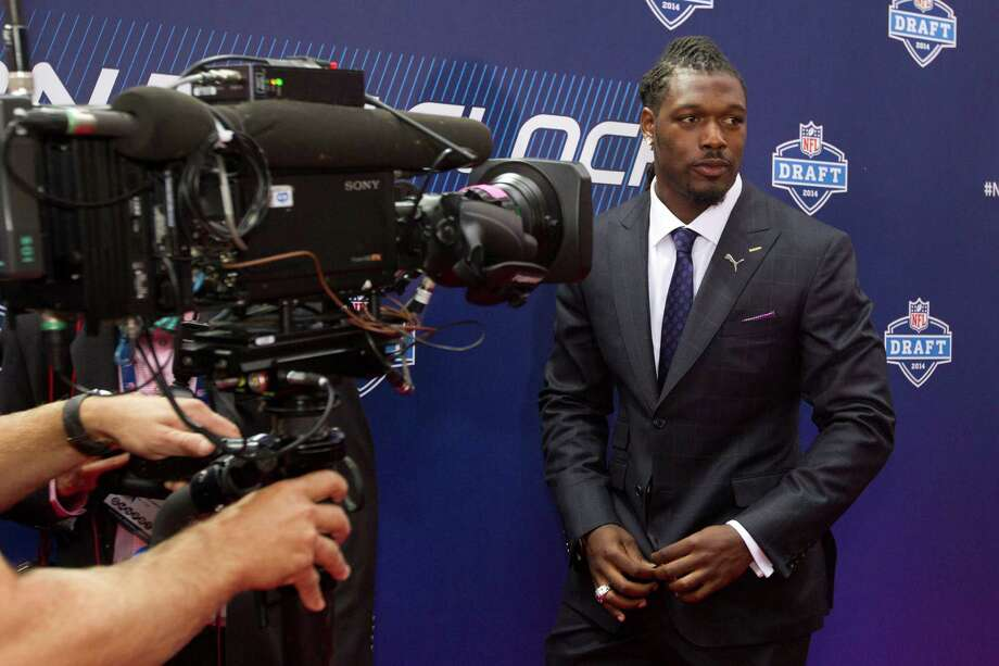 Jadeveon Clowney, of South Carooina, arrives to the NFL Draft at Radio City Music Hall Thursday, May 8, 2014, in New York. Photo: Brett Coomer, Houston Chronicle / © 2014 Houston Chronicle