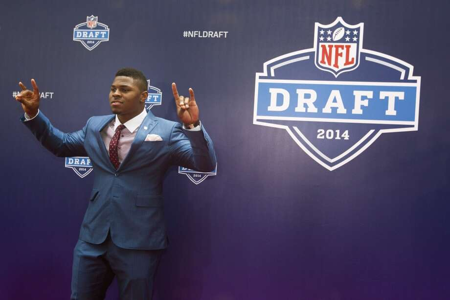 Khalil Mack, of Buffalo, poses for photos on the Red Carpet before the NFL Draft at Radio City Music Hall Thursday, May 8, 2014, in New York. ( Brett Coomer / Houston Chronicle ) Photo: Brett Coomer, Houston Chronicle