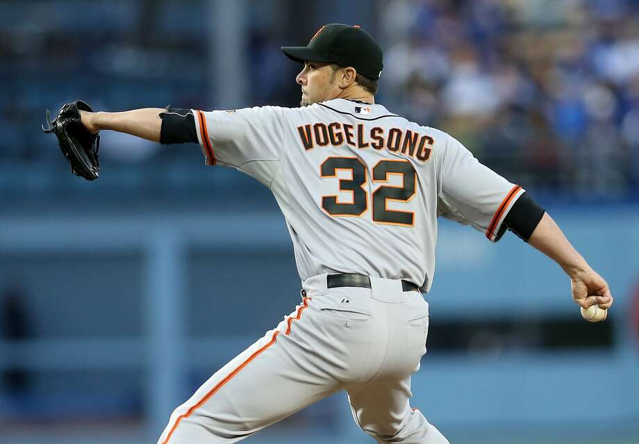 LOS ANGELES, CA - MAY 08:  Ryan Vogelsong #32 of the San Francisco Giants throws a pitch against the Los Angeles Dodgers at Dodger Stadium on May 8, 2014 in Los Angeles, California.  (Photo by Stephen Dunn/Getty Images) Photo: Stephen Dunn, Getty Images