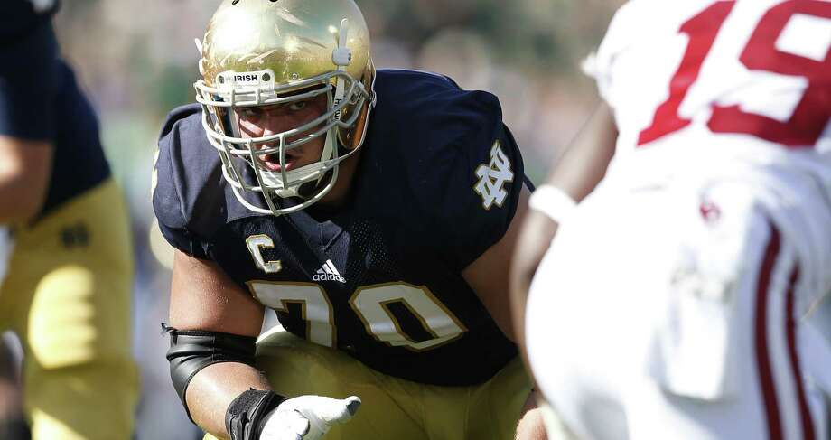 Notre Dame offensive lineman Zack Martin said one of his biggest strengths is his versatility. Photo: Joe Robbins / Getty Images / 2013 Joe Robbins