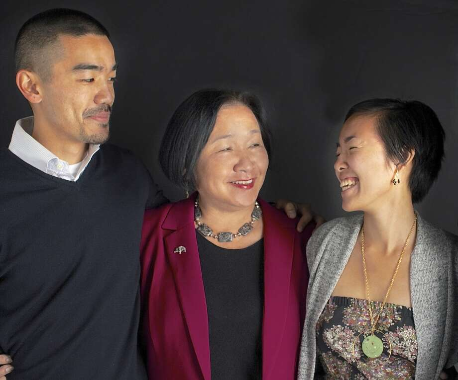 "Oakland Mayor Jean Quan with her son William Huen, 36, and daughter, Lailan Huen, 32. Best parenting advice: ""Expect great things of your kids. Talk to your children and read with them as much as possible, even when they're babies.  I think our kids are curious, engaged and opinionated, because we had real discussions with them even when they were very young."" Photo: Nicole Franco"