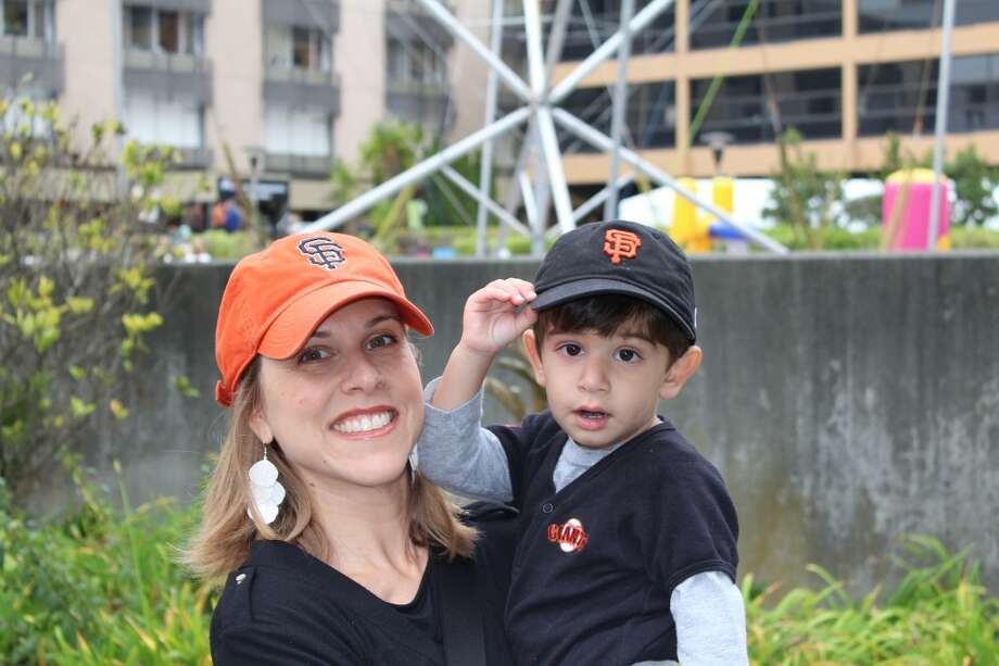 "Dr. Leah Klinger, assistant physician-in-chief, Kaiser Permanente San Francisco, with her son Leo Javid 3. Best parenting advice: ""The first thing I learned when I became a parent was to not judge other parents."""