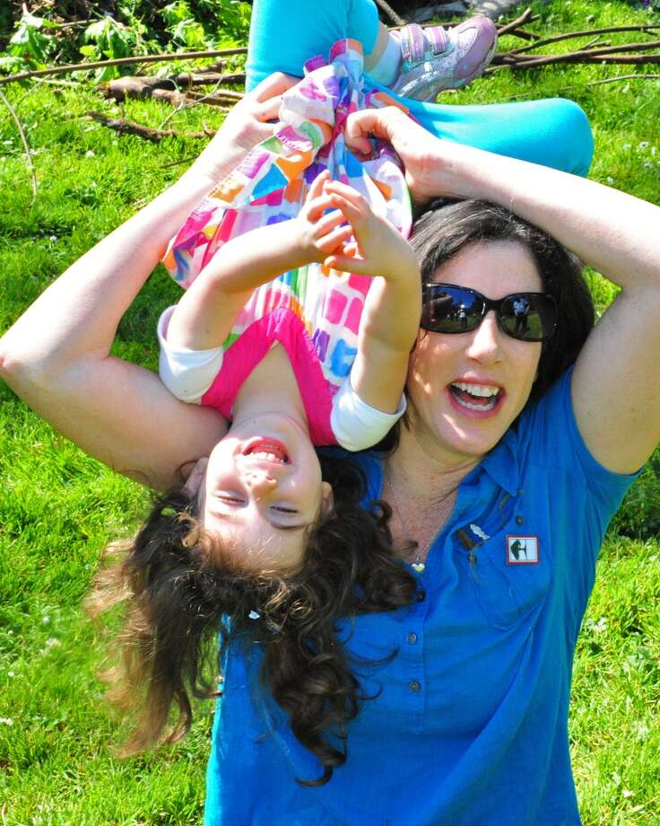 "Christine Pelosi, author of  Campaign Boot Camp, with her daughter Bella Kaufman, 5. Best parenting advice: ""Motherhood works best when you're giving your children room to blaze their own trails, support to express their creative spirits, and encouragement to be part of something bigger than themselves. """