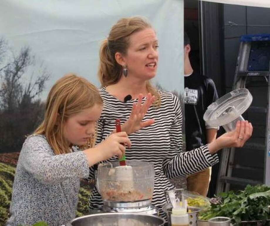 "Tara Duggan, staff writer at the San Francisco Chronicle Food section, cookbook author of ""Root to Stalk Cooking: The Art of Using the Whole Vegetable,"" and her daughter Dahlia Gustafson, 11. Best parenting advice: ""It comes from my own mom, Jane Duggan, a military wife who had to move us around from house to house and school to school. Whenever I worry about the kids for whatever reason, she says, 'They'll be fine.' I try to remember I come from a long line of sensible, smart, caring mothers, and everything probably will be fine."""