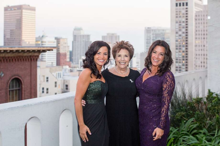 "Bonnie Addario, founder, Bonnie J. Addario Lung Cancer Foundation, and her daughters, Danielle Hicks, 41, and Andrea Parks, 38. Best parenting advice: ""When my children were very young and came home from school to tell me that a friend was picking on them I would always tell them they had 'best friends' they hadn't even met yet. That remains true today. No matter how old we get new and wonderful people come into our lives and make it a better place to be!"" Photo: James Hall Photography"
