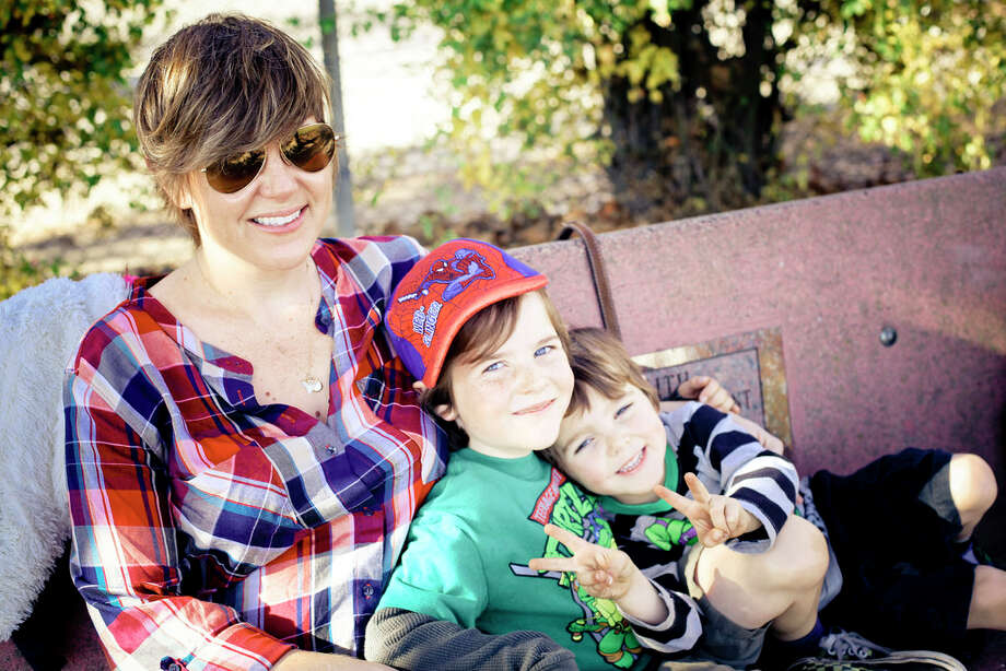 "Lindsey Shepard, vp of marketing and sales, GoldieBlox, with her sons, Stone, 7, and Paolo, 5. Best parenting advice: ""Work to normalize gender equality, and let the steam out of outdated stereotypes. Hire a female plumber, draw attention to male nurses, start using the term ""Police Officer"" instead of ""Police Man."" Point out women in technical jobs and positions of authority. Don't be afraid to overcorrect; the world does a good job of setting them back to neutral on it's own."""