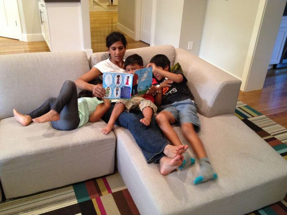 "Aila Malik, non-profit executive, attorney and author of Pocket Mommy, and her children Zayan, 7, Kenza, 4, and Kaysan, 2. Best parenting advice: ""Turn off the TV, cell phones and video games and spend at least 15 minutes a day reading to your children. You'll find that reading a story together will help their learning while deepening your connection."""