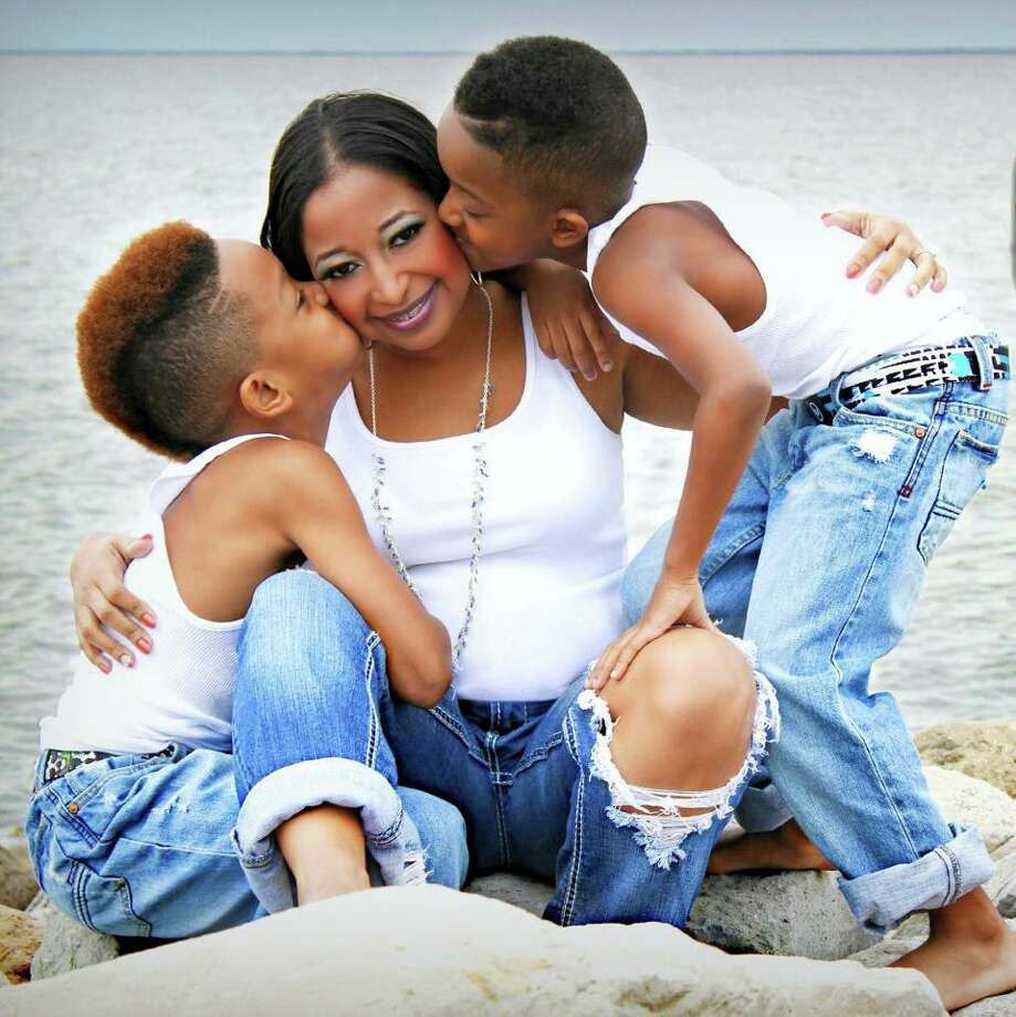 Monique Cooper and her two 'Lil Men.'