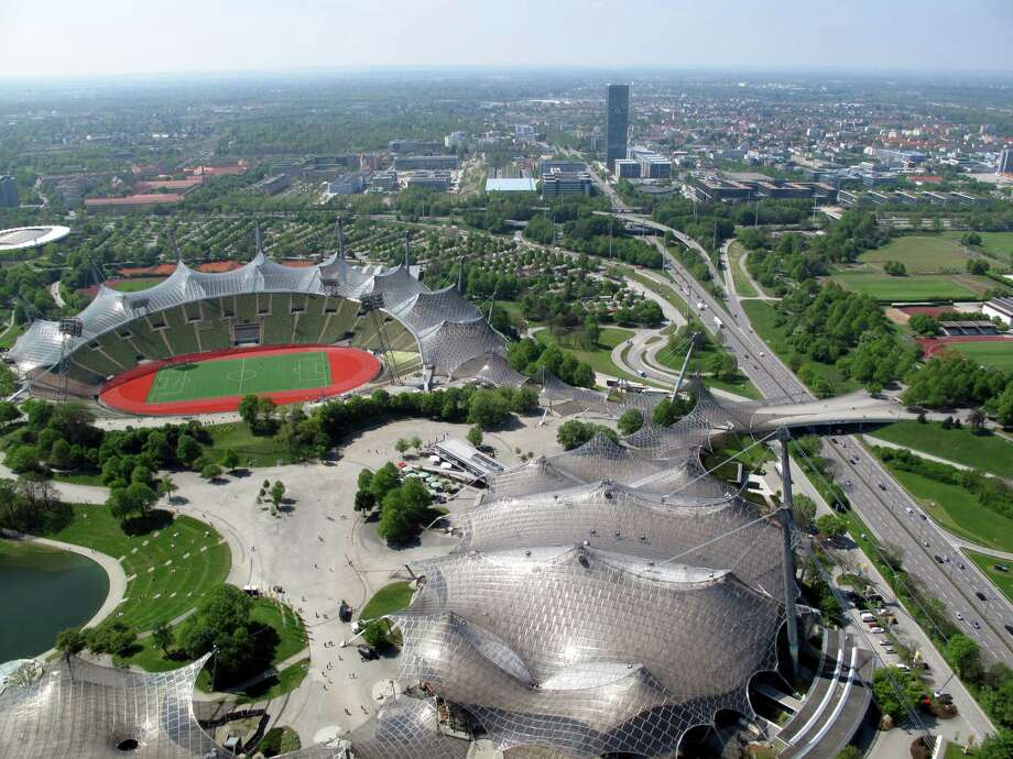 Olympic Park as seen from Restaurant 181 at Olympic Tower in Munich Photo: Jody Schmal