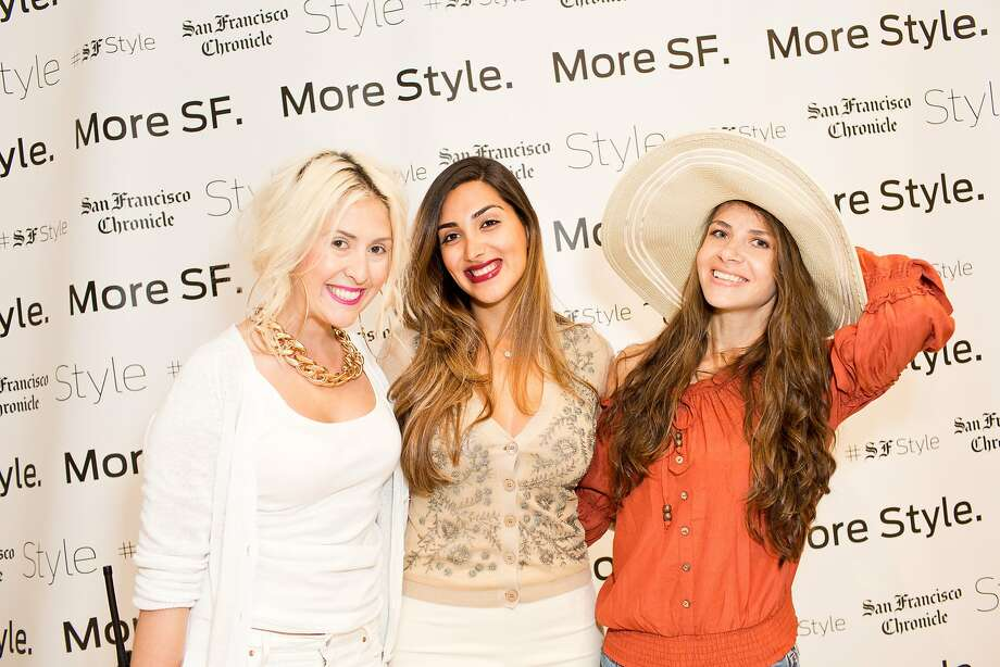 Kat Ensign, Ana Pishevar and Keily Hernandez pose during the Miami themed UrbanDaddy / San Francisco Chronicle Event at Gap in San Francisco, Calif., Thursday, May 8, 2014 Photo: Jason Henry, Special To The Chronicle