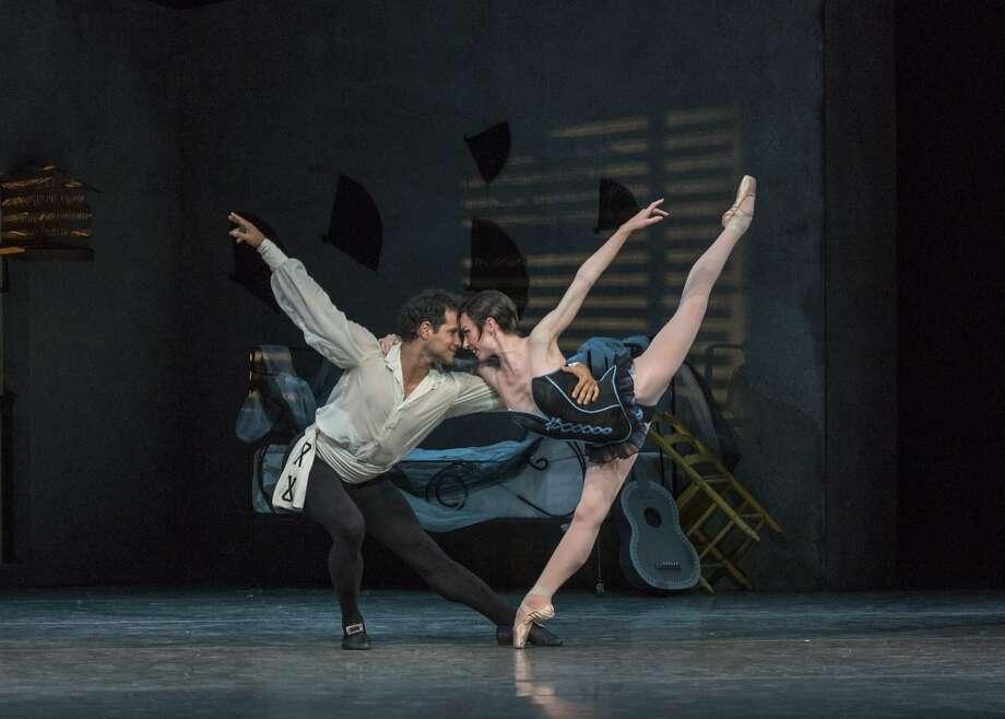 "Ballet San Jose Artistic Director José Manuel Carreño takes the stage in Roland Petit's 1949 retelling of ""Carmen"" as Don José, with Alexsandra Meijer in the title role. Photo: Alejandro Gomez."