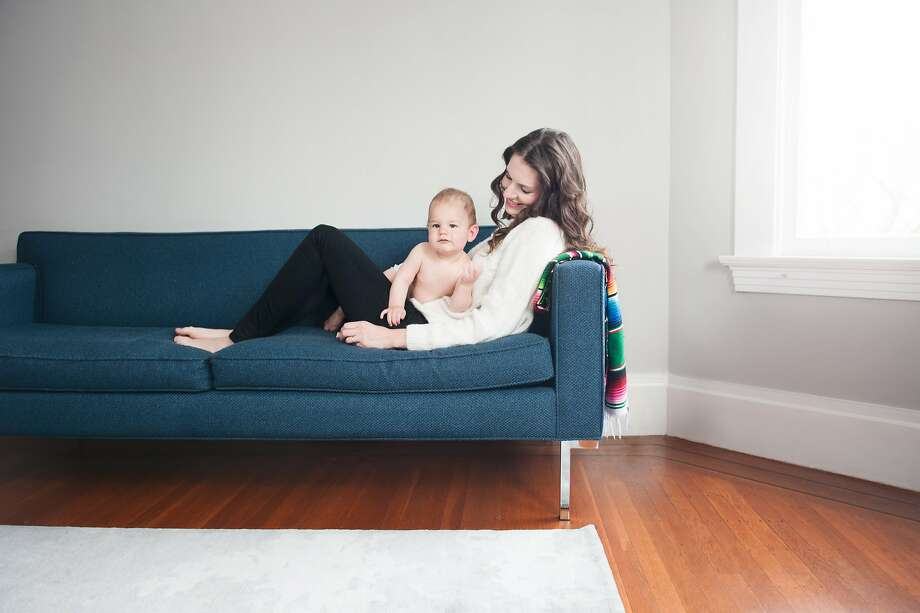 Katie Hintz-Zambrano, with son Diego, 1, is the co-founder of Mother, a full service lifestyle site for moms. Photo: Maria Del Rio, Mother