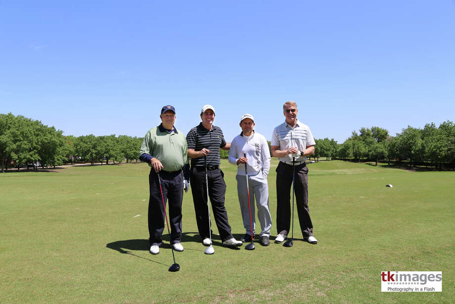 Alan Fama, Travis Nichols, Tim Flores and Bill Dodson attend the Nancy Owens Memorial Foundation golf tournament.