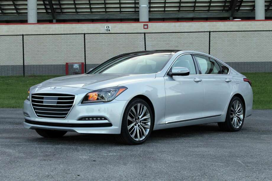 """Not yet available in showrooms or Texas, Hyundai's 2015 Genesis won """"Car of Texas"""" from the Texas Auto Writers Association this spring. The MSRP for the base model (equipped with 311-horsepower V6) starts at $39,000."""