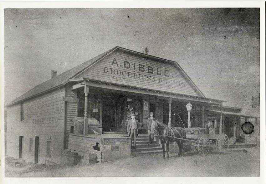 A photo of the Alphonse Dibble Store taken around 1890. The store, today known as Rowayton Market, was originally opened in the late 1700s by the Richards brothers and is the oldest continually operational market in Connecticut. Prior to Mr. Dibble owning the market, it had been owned by his father in law, Alfred Seeley. The Dibbles and their children continued to operate the store until 1923.