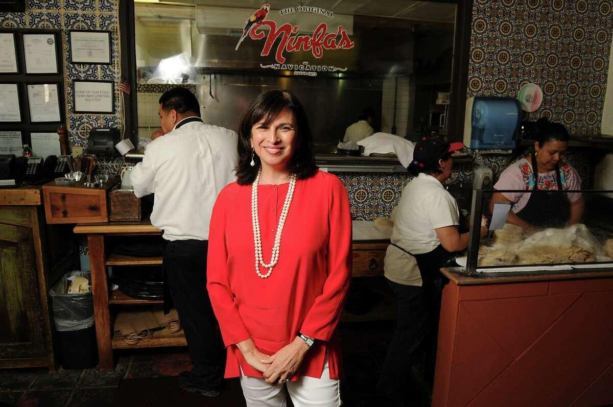 Phyllis Mandola at the original Ninfa's on Navigation Friday May 02, 2014.(Dave Rossman photo)