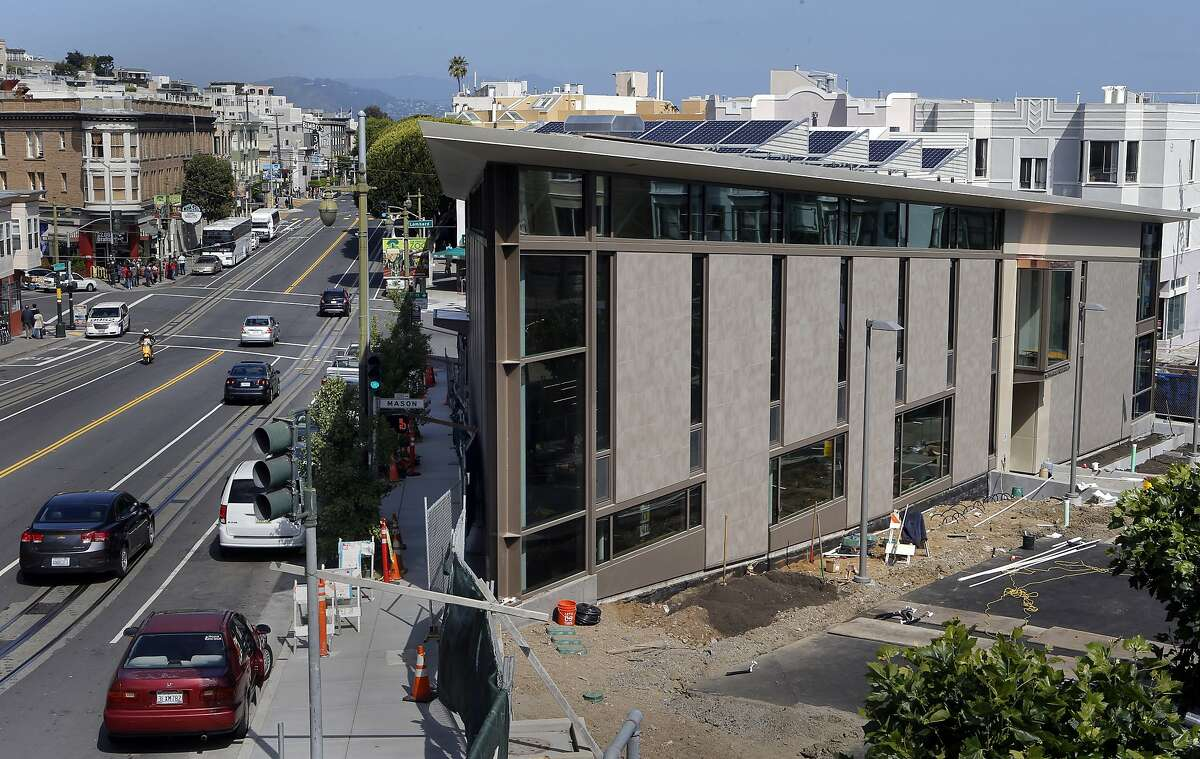 The neighborhood that surrounds the North Beach branch library, in San Francisco, Calif., on Wednesday May 7, 2014. With the North Beach branch library scheduled to open on May 10, 2014, the overall San Francisco branch library restoration program is nearing completion.