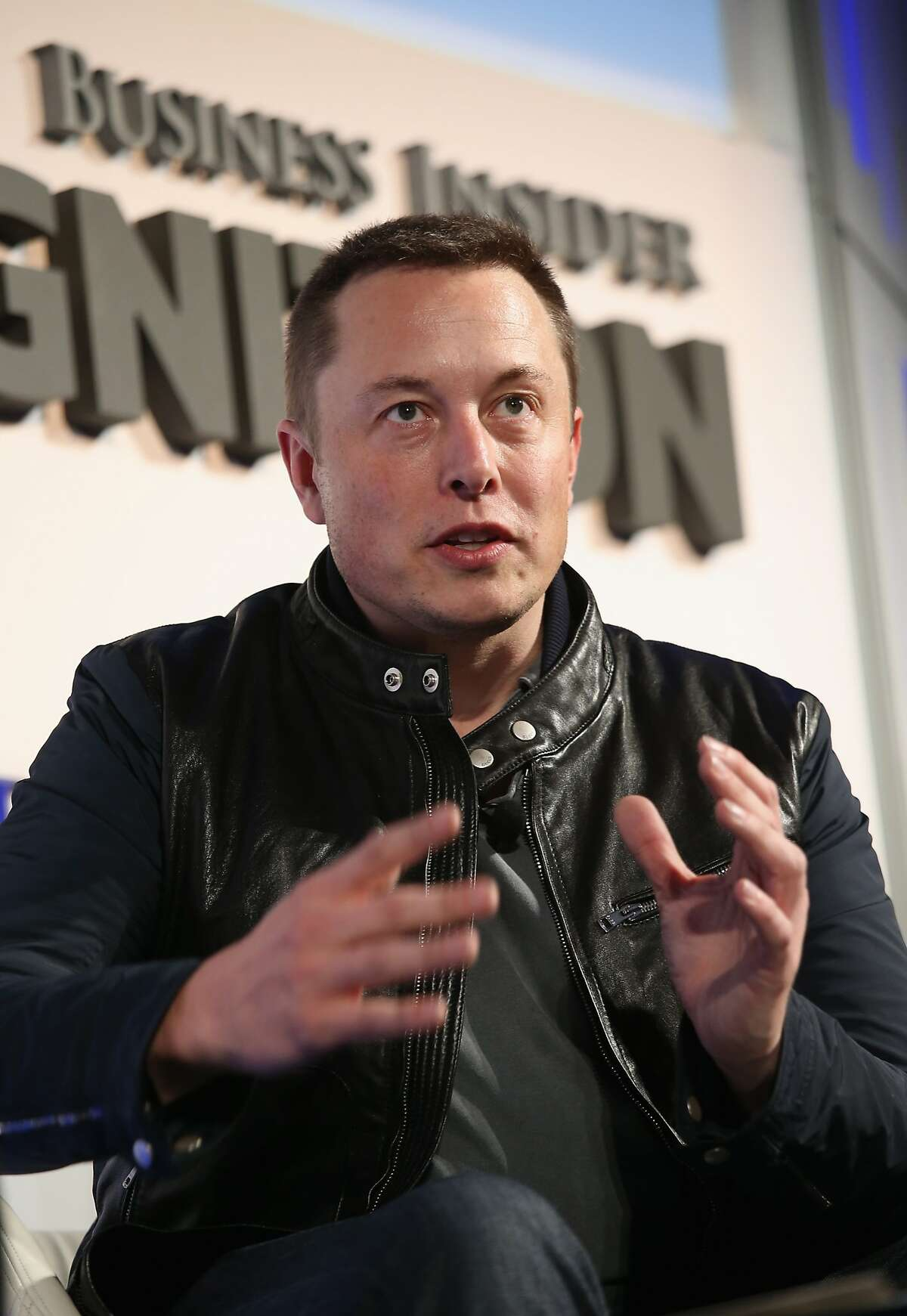 Telsa CEO Elon Musk speaks at the Ignition Future of Digital business conference on November 12, 2013 in New York City.