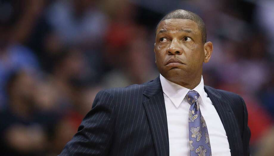 Clippers head coach Doc Rivers dispensed with team prayer. Photo: Danny Moloshok / Associated Press / FR161655 AP