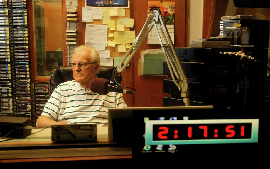 "Marty Mueller, 87, has hosted the ""Bible Bowl"" on KHCB (105.7 FM) for nearly four decades. If no one volunteers to replace him, the show will end soon. Photo: Karen Warren, Staff / © 2014 Houston Chronicle"