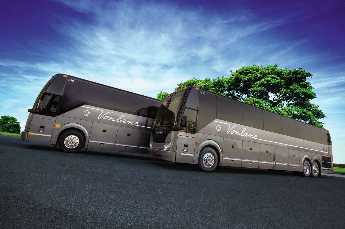 The 16-seat Vonlane buses are aimed at business travelers going between Austin and Dallas.