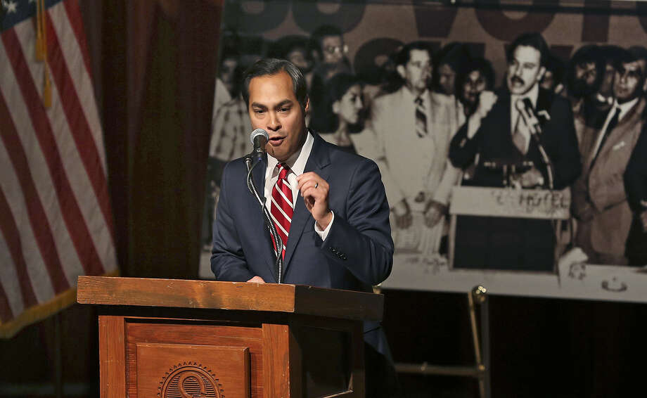 "Mayor Julián Castro helps kick off ""2014 Latino Vote"" at the Pearl Stables as part of the statewide observance of William C. Velásquez Recognition Day. Photo: Tom Reel / San Antonio Express-News"