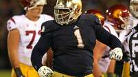 3rd round (83rd overall): Louis Nix, DT, Notre Dame, 6-2, 331.     College career – He started 11 games each season as a sophomore and junior, making a combined 95 tackles, but played in only seven as a senior, with 27 tackles, after suffering a torn meniscus that required surgery.