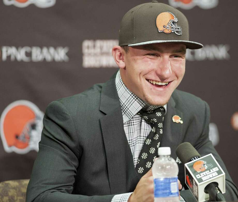 With the No. 22 pick, the Cleveland Browns became relevant by selecting Johnny Manziel. Photo: Jason Miller / Getty Images / 2014 Getty Images